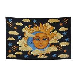 Sun Moon and Clouds Tapestry