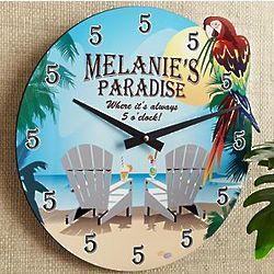 Personalized Paradise Clock