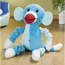 Plush Blue Monkey Squeaker Dog Toy