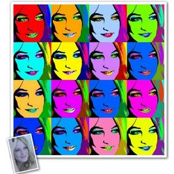 Pop Art 16 Panels Print from Photos