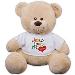 Personalized Jesus Loves Me Teddy Bear