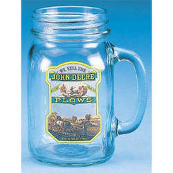 John Deere Plows Drinking Jar