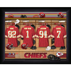 Personalized Kansas City Chiefs Locker Room Framed Print