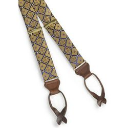 Medallion Silk Suspenders