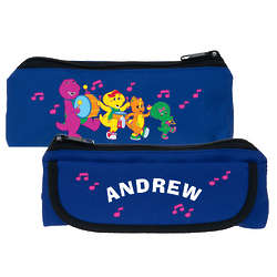 Barney and Friends Personalized Blue Pencil Case