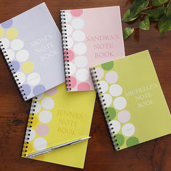 Dots of Fun Personalized Mini Notebook Set