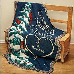 Holiday Personalized Home is Where the Heart is Throw Blanket