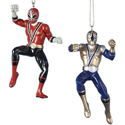 Red and Gold Power Rangers Ornaments