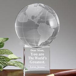 World's Greatest Mom Personalized Globe