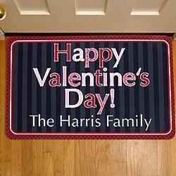 Personalized Happy Valentine's Day Doormat