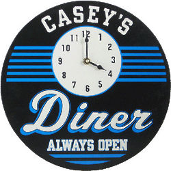 Personalized Always Open Diner Clock