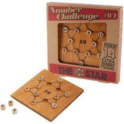 26 Star Number Challenge Wooden Math Brain Teaser
