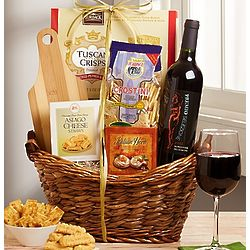 Tuscan Moments Italian Wine and Cheese Gift Basket