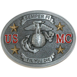 Men's Semper Fi US Marine Corps Belt Buckle