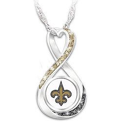 New Orleans Saints Forever Infinity Pendant