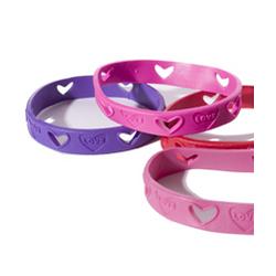 Love Cut Out Rubber Bracelet