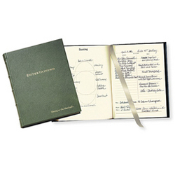 Leather Entertaining Record Book