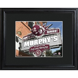 Alabama Personalized College Hangout Sign Framed Print