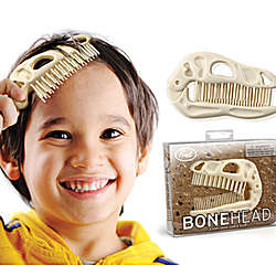 Bonehead Dinosaur Folding Brush & Comb