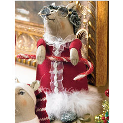 Grandma Christmas Mice Figurine