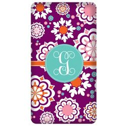 Personalized Purple and Blue Funky Floral iPhone Case