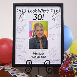 Birthday Wishes Personalized Signature Mat Picture Frame