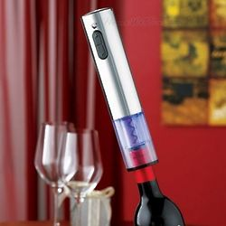 Blue-Lit Stainless Steel Electric Corkscrew