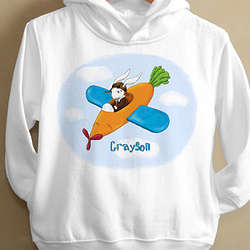 Personalized Retro Rabbit Toddler Hoodie