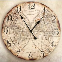 "World Map 24"" Wall Clock"