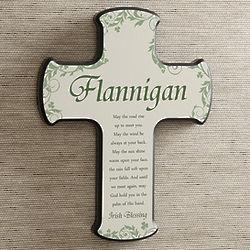Personalized Traditional Irish Blessing Irish Wall Cross