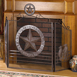 Lone Star Rustic Fireplace Screen
