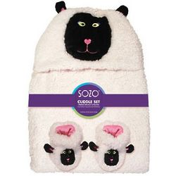 Sheep Cuddle Blanket & Bootie Set