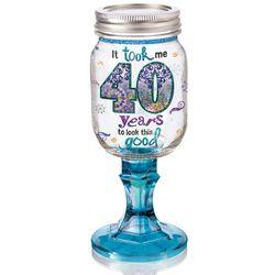 Good Lookin Fortieth Redneck Wine Glass