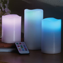 Remote Control LED Color Change Pillar Candles