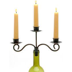 Antiqued Taper Wine Bottle Candelabra