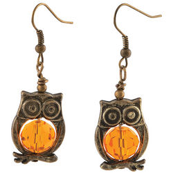 Goldtone Owl Earring Art and Crafts Kit