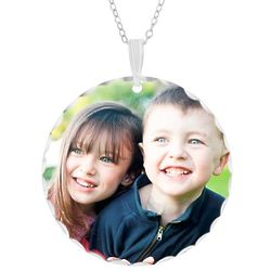 Large Round Color Photo Pendant
