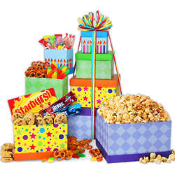 International Happy Birthday Candy Gift Tower