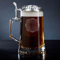 Fueled By Fire Personalized Beer Stein for Firefighters