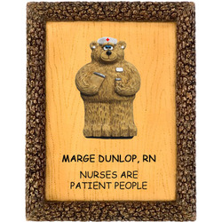 Nurses are Patient People Personalized Plaque