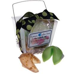 Green Polka Fortune Cookie Soap
