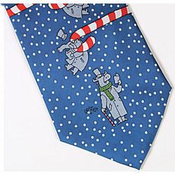 Holiday Bull and Bear Tie