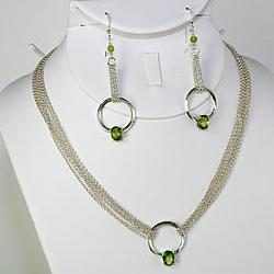 Peridot Necklace and Earring Set