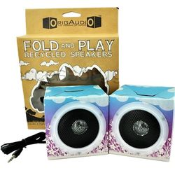 Purple Flower Premium Fold N Play Recycled Speakers