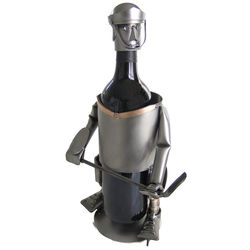 Hockey Player Wine Holder