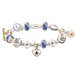 Go Cowboys! #1 Fan Charm Bracelet with Swarovski Crystals