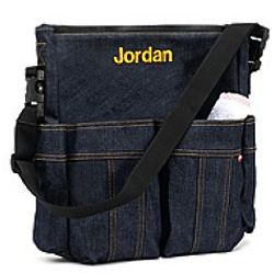 Personalized Denim Baby Diaper Bag