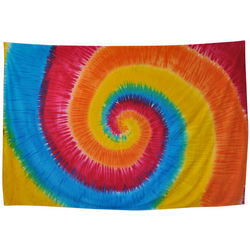 Rainbow Spiral Tie Dye Tapestry