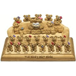 Anniversary Chair for Bear Couple with up to 24 Kids