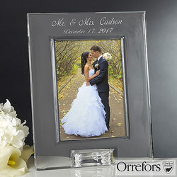 Personalized Crystal Wedding Picture Frame